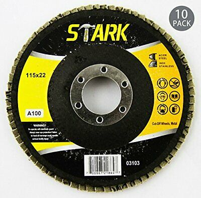 10pc 100-grit Flap Sanding Grinding Disc 4-12 X 78 Aluminum Oxide Ao Set