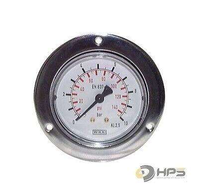 Wika Manometer (WIKA Einbaumanometer großer Frontring Schalttafeleinbau Manometer Vakuummeter)