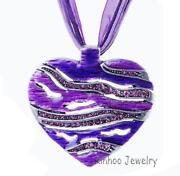 Purple Rhinestone Necklace