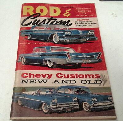 May 1960 ROD & CUSTOM Magazine USA  Chev Ford