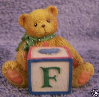 """Letter Block """" F"""" NIB~Cherished Teddies"""