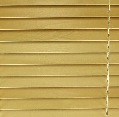 Real Wood Venetian blind 75cm wide (2ft 6in) NATURAL Finish NEW
