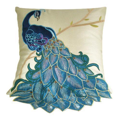 Peacock Throw Pillow Ebay