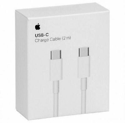 Câble Original Apple USB-C TYPE C (2m) Chargeur Rapide Data MacBook Pro...