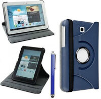 """Rotating """"Leather"""" Stand/Case, Samsung Galaxy TAB 3 & 4, 7 inch"""
