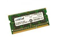 Crucial 4GB DDR3 1600 MHz PC3-12800 memory ram