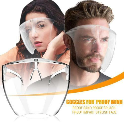 1PC Face Shield Protective Isolation Mask Reusable Transparent Anti Droplets