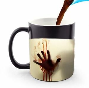 Walking Dead Magic Zombie Color Change Heat Reactive Magic Coffee Mug 11 Oz.