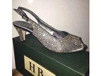HB Italia B272 Acciaio Toledo Sling-back Glittery peep-toe Ladies Shoe Sandals