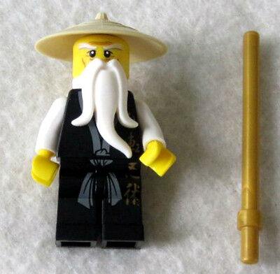 NEW LEGO NINJAGO SENSEI WU MINIFIG figure 2255 2507 2521 minifigure black - Lego Ninjago Black
