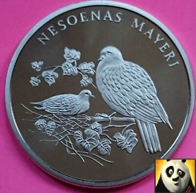 1986 Rare Pink Pigeon Mayeri Preserve Planet WWF For Nature Coin Medal