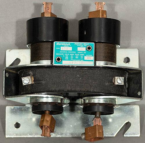 NEW Durakool CF2-302 80 A NO 2-Pole 120 VAC Coil Mercury Relay/Contactor