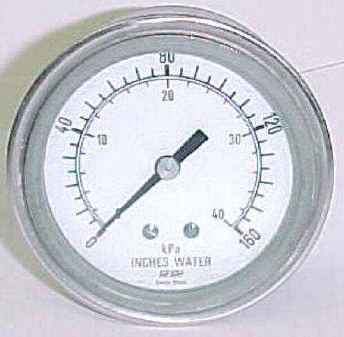 Haenni Dry Pressure Gauge Dual Scale In H2o/ Kpa, P/n: Dk63-412-211-15h