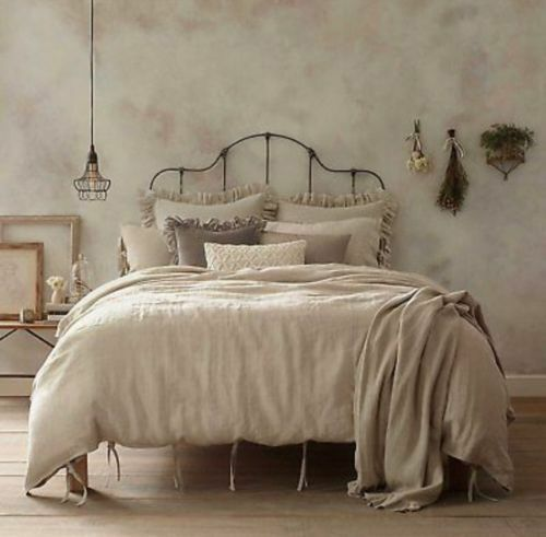 vintage linen king duvet cover