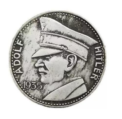 1935 German 5 MR  Adolf Hitler - Deutschland Fuhrer Commemorative Souvenir Coin
