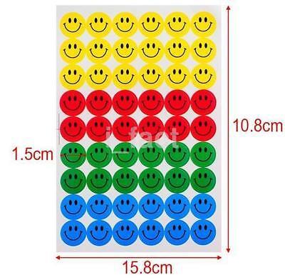 10 Sheets Cool Childrens Kids Smile Face Emoji Stickers School Teacher Merit CA