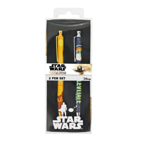 2 Pack – Disney Star Wars The Mandalorian Retractable Pens Gift Set – New in Box Collectibles