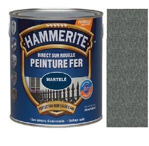 peinture fer hammerite antirouille martele gris ardoise direct sur rouille ebay. Black Bedroom Furniture Sets. Home Design Ideas