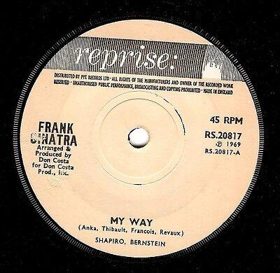 FRANK SINATRA My Way Vinyl Record 7 Inch Reprise RS 20817 1969