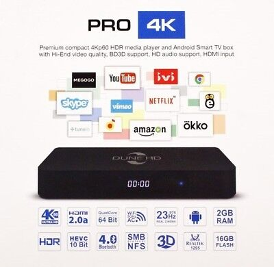 *NEW* Dune HD Pro 4K,  4Kp60 HDR Media Player, Android 7.1 Smart TV box for sale  Shipping to Canada