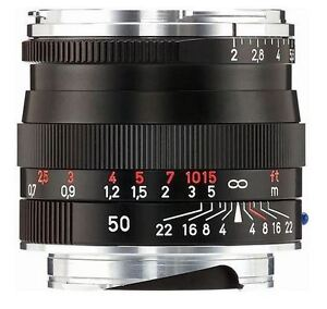 Zeiss 50 mm ZM F2 Mint New Condition with ** Zeiss Hood **
