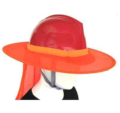 Hard Hat Sun Shade - Sun Protect Gardening Orange New