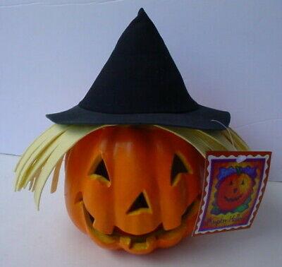 Light Up Pumpkins (2000 Paper Magic Group SCARECROW WITCH PUMPKIN JACK O LANTERN Light Up)