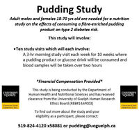 Adults (18-70yrs) Needed for Pudding Nutrition Study