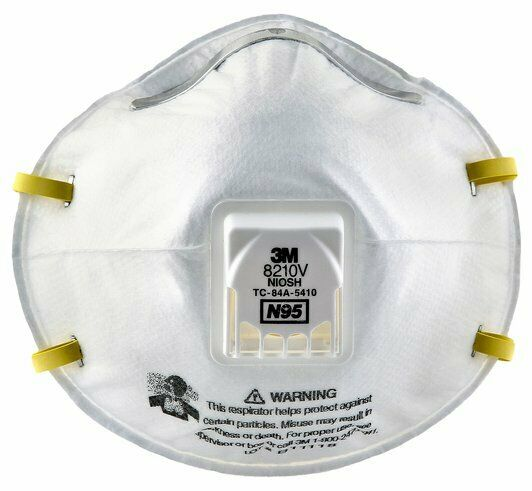 1 EACH-3M 8210V N95 Particulate Respirator Face Mask W/Exhalation Valve EXP 2026 Business & Industrial