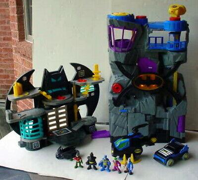 Fisher Price Imaginext Huge LOT Batman Headquarters Batcave Batcopter + Figures