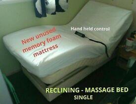 Recliner massage bed