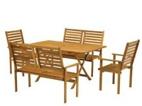 Garden Table And Chairs BRAND NEW - Hardwood Royalcraft RRP £399 - Garden Bench