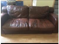 3 seater leather sofa. Extremely comfy. Sold as seen. Collection only.