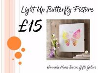 Light Up Butterfly Picture