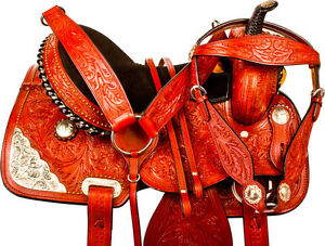 "15""16"" Western Horse Saddle + Tack Silver Barrel Pleasure Trail London Ontario image 2"