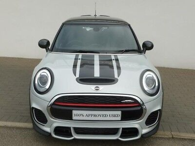 (MINI JOHN COOPER WORKS FRONT BONNET & REAR TAILGATE STRIPES BLACK DECAL STICKERS)