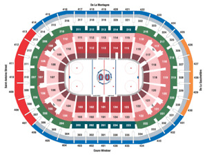 COLORADO VS MONTREAL TONIGHT CENTER ICE REDS - INCREDIBLE DEAL