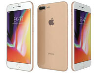APPLE IPHONE 8 PLUS 64GB GOLD UNLOCKED LIKE BRAND NEW UNMARKD APPLE WARRANTY 12/03/19 BOXED