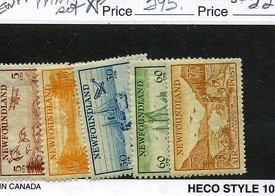 CANADA SCOTT C13 - C17 MINT NEVER HINGED STAMP SET