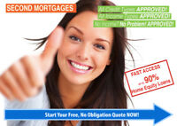 SECOND MORTGAGE WITH NO CREDIT/NO INCOME REQUIRED 90% LTV
