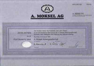 A. Moksel 1995 Buchloe März Rosenheim Merzig Vion Food 50 DM Bestmeat Food Group