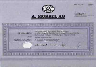 A. Moksel 1995 Buchloe März Rosenheim Merzig Vion Food 50 DM Bestmeat Food Group