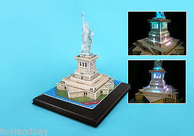 Museum Quality Led Lighted Architectural Model Statue Of Liberty 1/400 Scale
