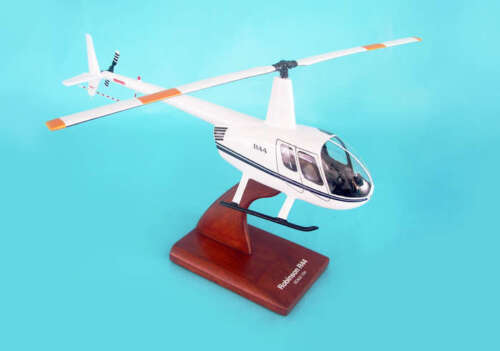 """Helicopter Robinson R-44 Helicopter 16"""" Wood Model Aircraft"""