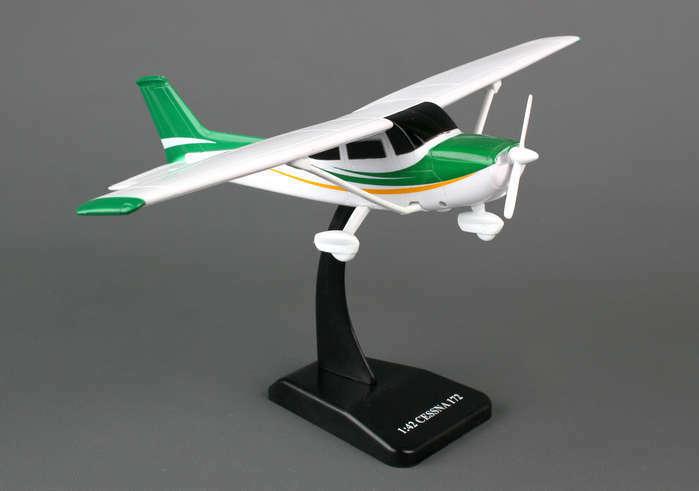 Sky Kids Cessna C172 Skyhawk with Wheels 1/42 Scale Plastic Toy Airplane