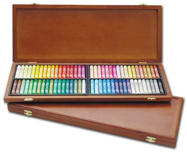Mungyo Oil Pastels for Artists Wood Box Set of 72 Standard - Assorted Colors