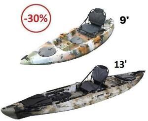 Kayak de pèche avec siege surélevé - 5 porte canne