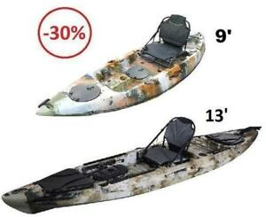 Kayak de pêche A1 stable 529$ et+ fisher king, pelican catch