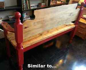 Bench made from Antique Bedframe Peterborough Peterborough Area image 5