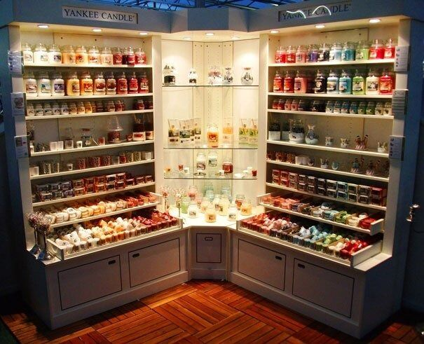 Yankee Candle Display Cabinets